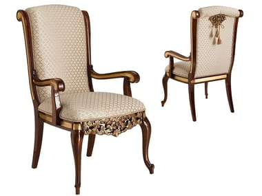 Classic style upholstered fabric chair with armrests GRAND ROYAL | Chair with armrests