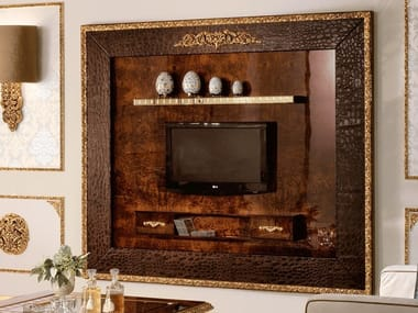Wall-mounted TV wall system GRAND ROYAL | Storage wall
