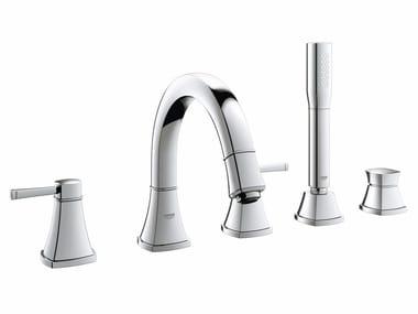Bathtub set with hand shower GRANDERA™ | 5 hole bathtub set