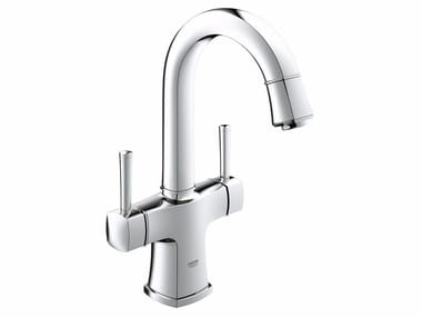 Countertop 1 hole washbasin tap with adjustable spout GRANDERA™ SIZE L | Washbasin tap