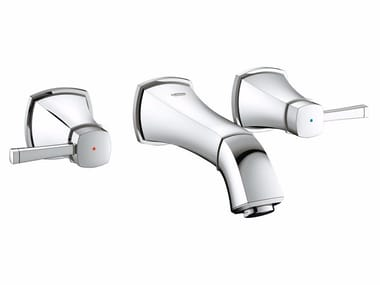 3 hole wall-mounted washbasin tap GRANDERA™ SIZE S | Wall-mounted washbasin tap
