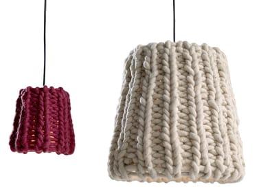Wool pendant lamp GRANNY
