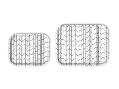 Rectangular laminate tray GRAPH