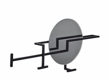 Appendiabiti da parete in acciaio e vetro GRAPHIC | Appendiabiti