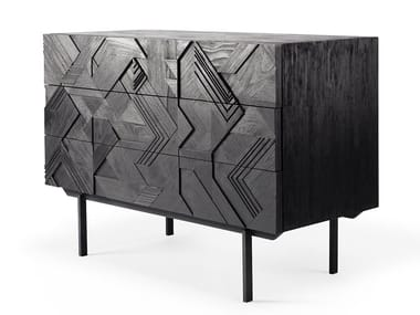 Teak chest of drawers GRAPHIC | Chest of drawers