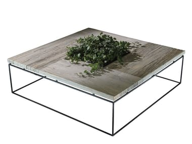 Low square oak coffee table GRAPHIC 6 | Square coffee table