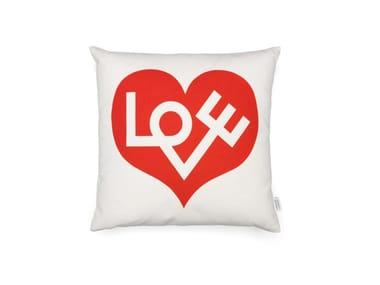 Cuscino quadrato in cotone GRAPHIC PRINT LOVE