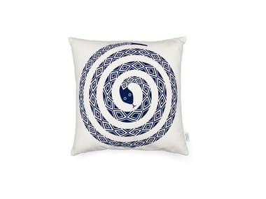 Square cotton cushion GRAPHIC PRINT SNAKE