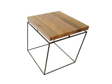 Tavolino quadrato in rovere GRAPHIC | Tavolino quadrato