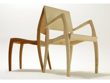 Stackable Wooden Chair GRASSHOPPER ²   Stackable Chair