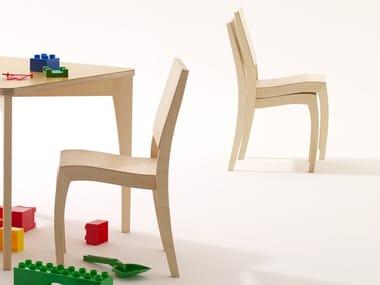 Stackable wooden kids chair GRASSHOPPER KIDS | Kids chair