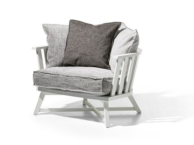 Fabric armchair with armrests GRAY 07