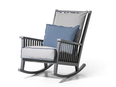 Rocking armchair with armrests GRAY 09