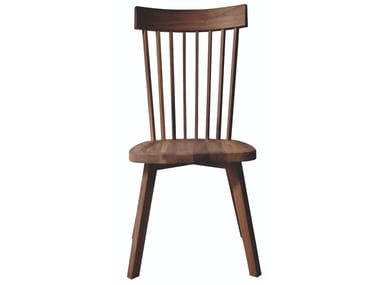 High-back wooden chair GRAY 21