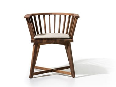 Wooden chair with armrests GRAY 24