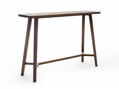 Rectangular walnut console table GRAY 61