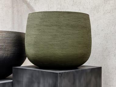 Vaso da giardino basso fatto a mano in terracotta GRAZ