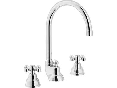3 hole washbasin tap with adjustable spout GRAZIA | 3 hole washbasin tap