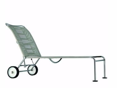 Sun lounger with castors GREEN - 251_O