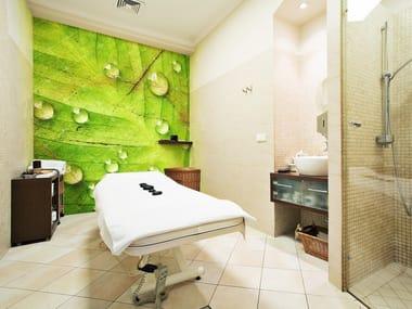 Adhesive Washable Bathroom Wallpaper GREENLEAF