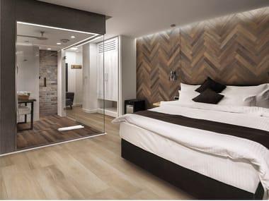 Glazed stoneware flooring with wood effect GREENWOOD
