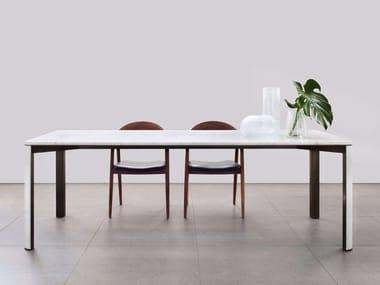 Tavolo rettangolare in marmo di Carrara GREGORIO | Tavolo in marmo di Carrara