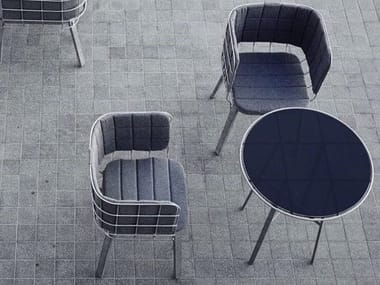 Steel chair with armrests GRID | Chair
