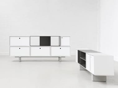 Modular Solid Surface sideboard GRID