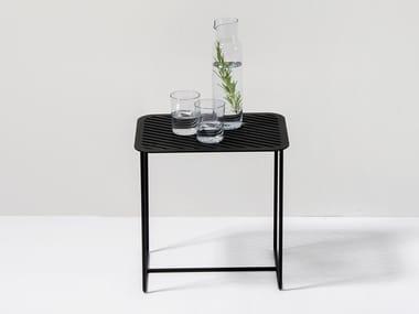 Tavolino rettangolare in lamiera GRID SIDE TABLE #02