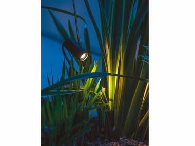Lampada da terra per esterno a LED orientabile in metallo GRILLO