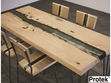 Rectangular wooden dining table GROOVE | Table