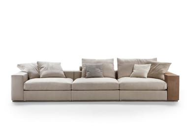 Sectional 3 seater fabric sofa GROUNDPIECE | 3 seater sofa