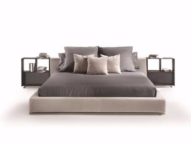 Double bed with removable cover GROUNDPIECE   Bed