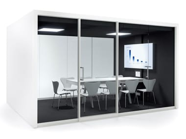 Acoustic multimedia office booth with built-in lights GROUPSPACE XXL