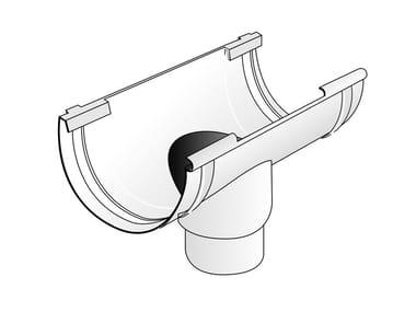 Giunto con scarico bi-system per canale di gronda in PVC GSN125B