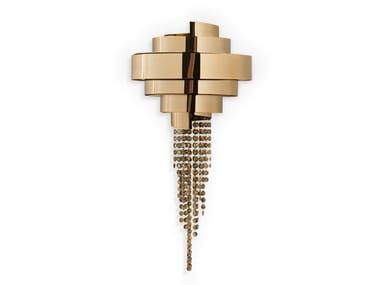 Lampada da parete in ottone con cristalli Swarovski® GUGGENHEIM | Lampada da parete