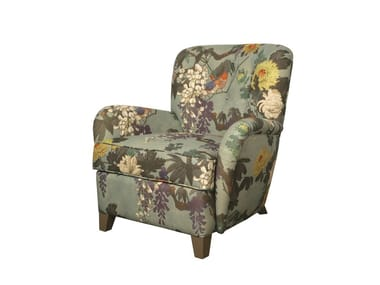 Fabric armchair with armrests GUINCHO