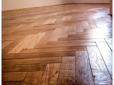 Untreated solid wood parquet GUINEA | Reclaimed Teak