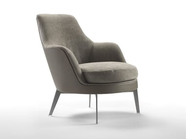 Upholstered armchair with armrests GUSCIO | GUSCIO SOFT