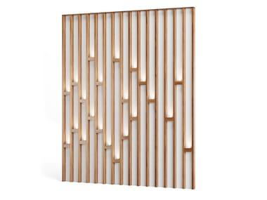 Pannello decorativo luminoso in legno impiallacciato GUSTATUS