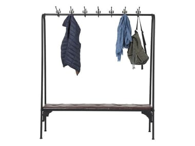 Free standing lacquered steel hallway unit GYM BENCH