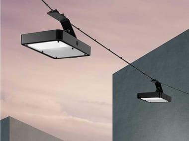 Lampada a sospensione per esterno a LED su cavi in alluminio GYRO | Lampada a sospensione per esterno