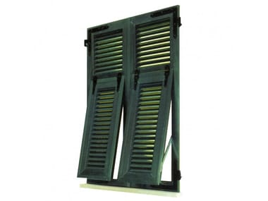 PVC shutter with fixed louvers Genoese shutters