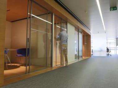 Acoustic glass door Glass door