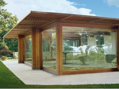 Veranda completa di struttura e copertura vetrata Pavilion vetrato