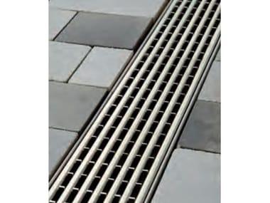 Griglia a barre longitudinali in acciaio Griglia ccon profilo a U