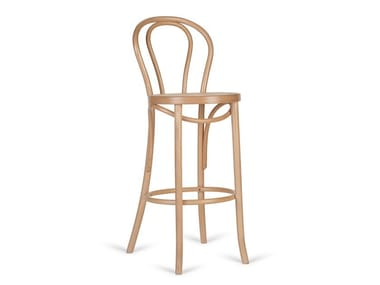 High beech stool with back H 1840