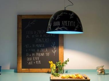 Lampada a sospensione a luce diretta in Nebulite® H2O LAVAGNA