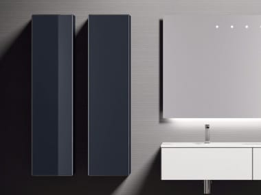 Tall suspended glass bathroom cabinet H24 | Tall bathroom cabinet