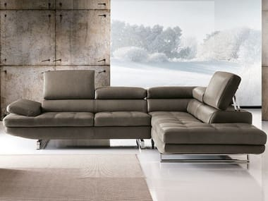 Sectional sofa with chaise longue HABART